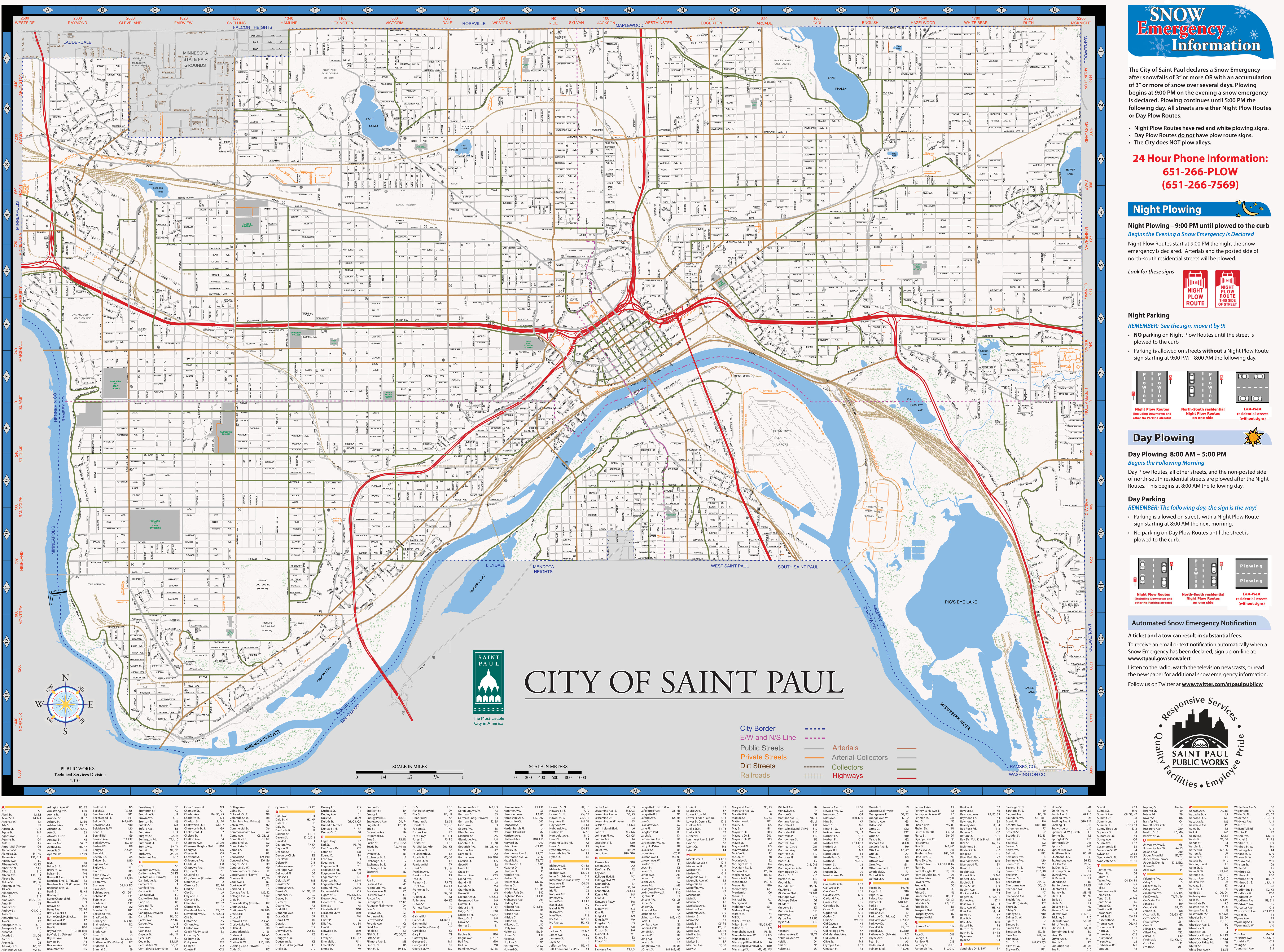 Map of Saint Paul Saint Paul By BikeEvery Block of Every Street