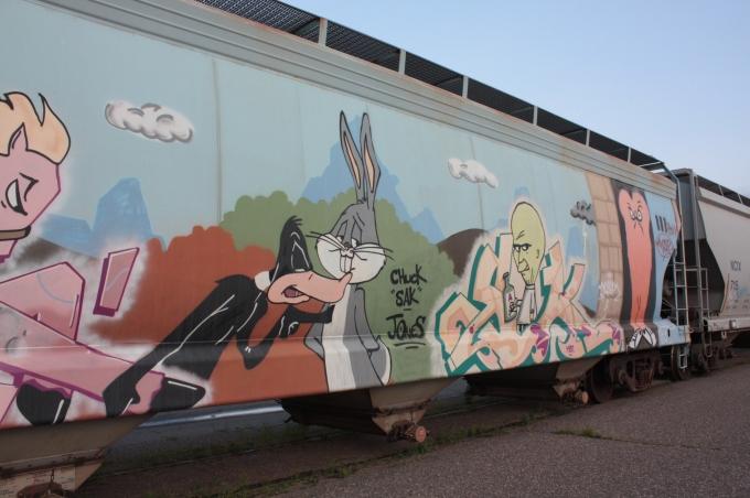 Behind the Amtrak depot on Transfer Road, Merriam Park