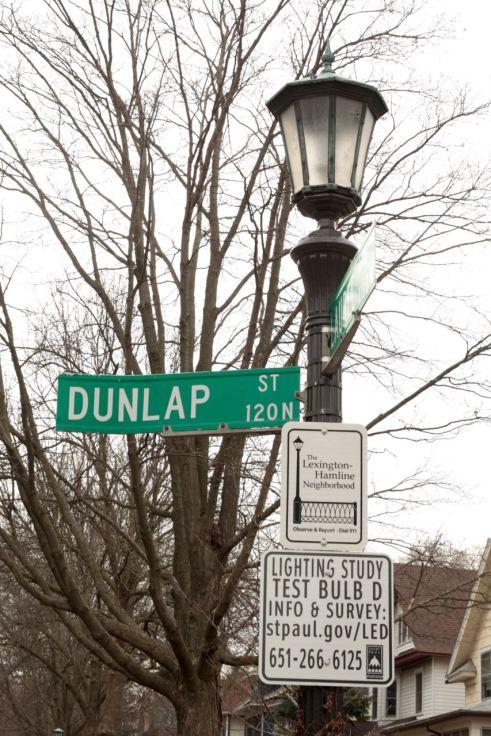 One of the LED bulb test sites in Lex-Ham on Dunlap Street. April 8, 2017.