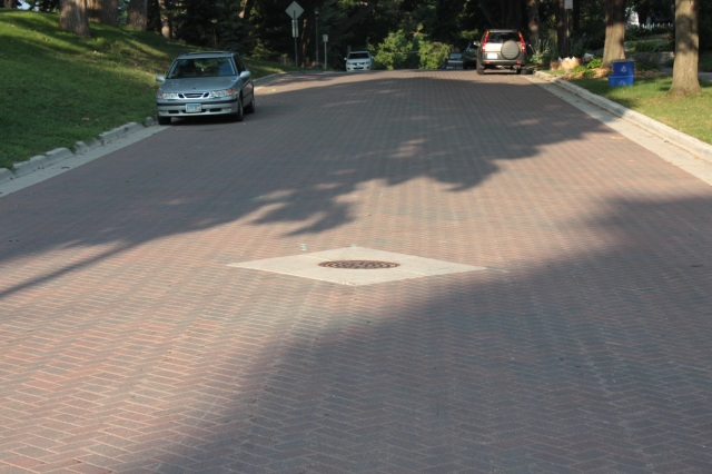 In 2009 these new brick pavers we put down on a two block stretch of Goodrich Avenue.