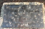 A close up of the marker designating the overlook.