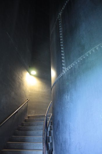 A few of the 151 steps I climbed on the way to the observation level of the water tower.