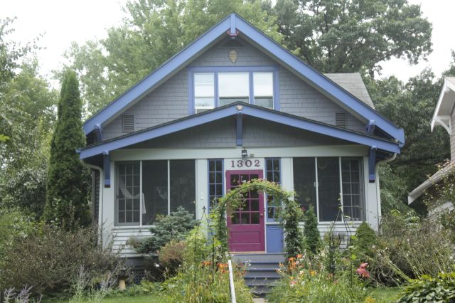 A home with a more traditional style, except for the paint. 1302 Portland Avenue.
