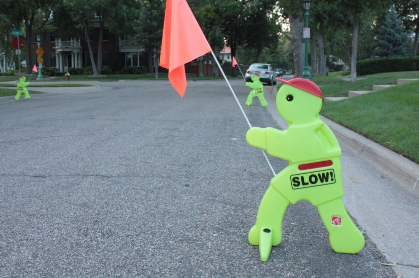 Crossing guards were working late on Exeter Place a few dozen feet north of Mississippi River Boulevard.