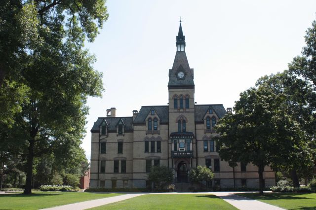 Old Main, originally University Hall, is the home of Hamline's administration. It was built and dedicated in 1884 and is on the National Register of Historical Places. The bell atop the building still rings hourly.