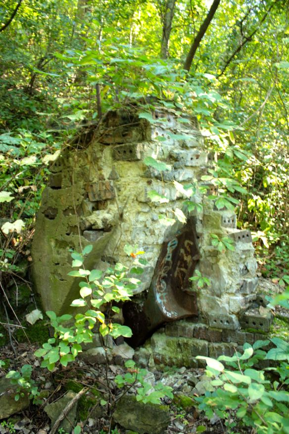 Relics of one of the Twin Cities Brick Company's brick ovens.