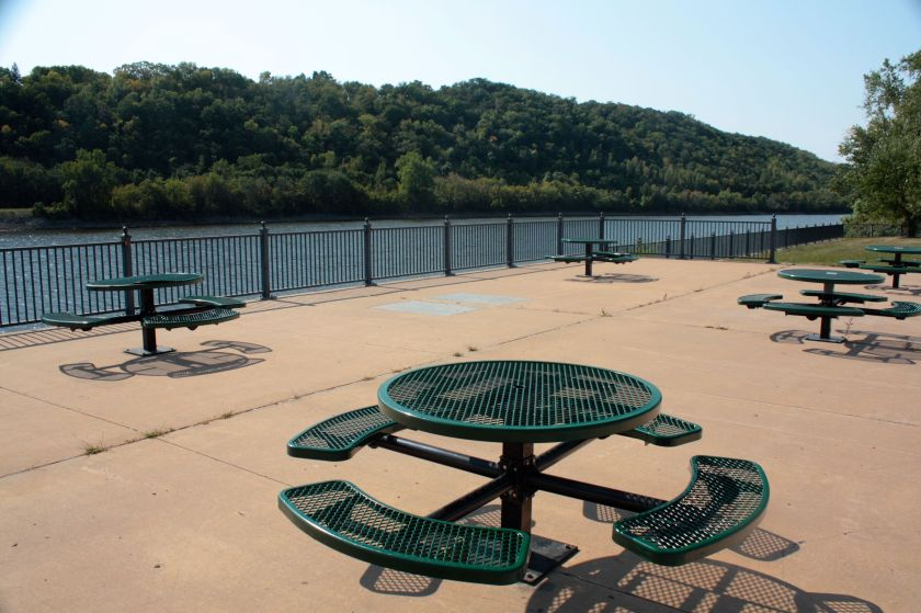 What a great place to relax and watch the river ease on by.