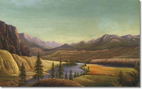 "Brown's 1882 painting ""View of Lake Okanagan"" most recently sold at auction in 2006 for $48,000!"