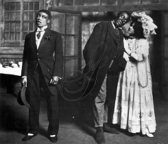 George Walker and Aida Overton Walker, on stage with Bert Williams, left. c1905.Photo courtesy The Granger Collection, NYC