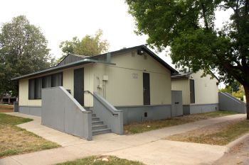 Two portable classrooms at J.J. Hill Montessori.