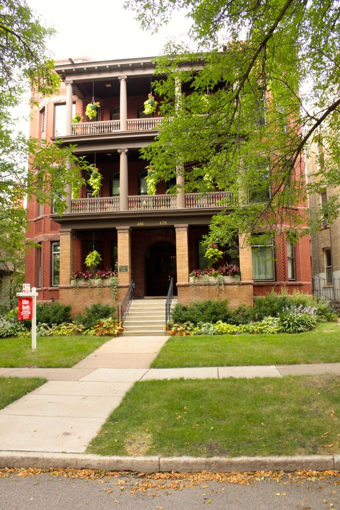 The birthplace, literally, of noted novelist F. Scott Fitzgerald, 481 Laurel Avenue.