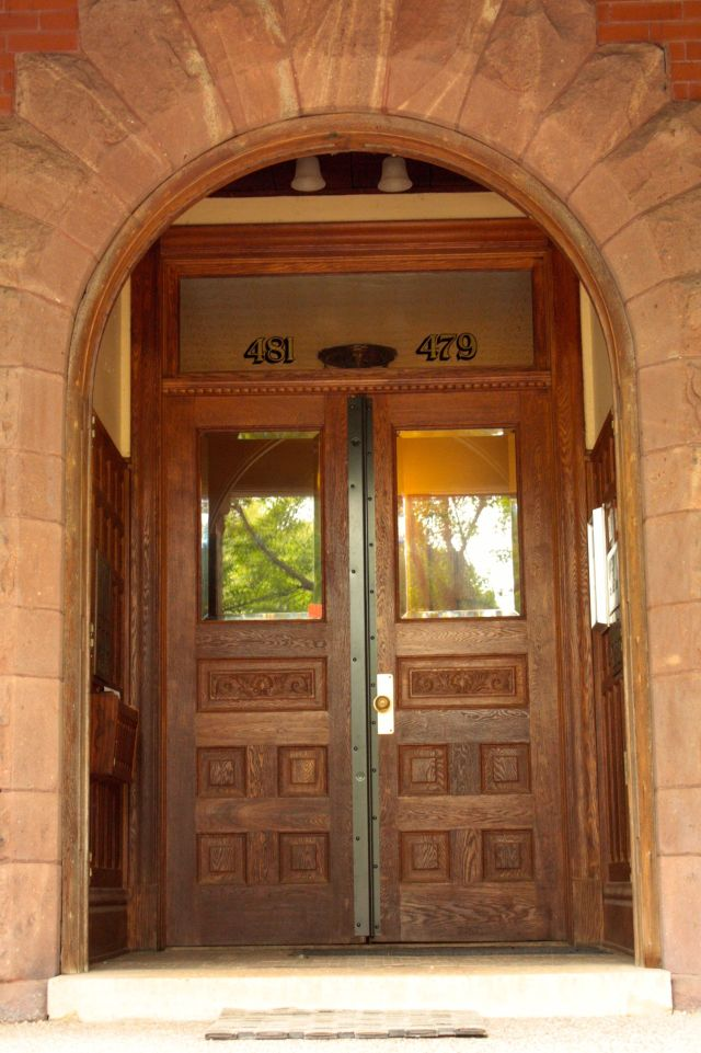 The entrance to the brownstone where Fitzgerald was born and lived until 1898.