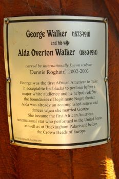 walker sculpture plaque