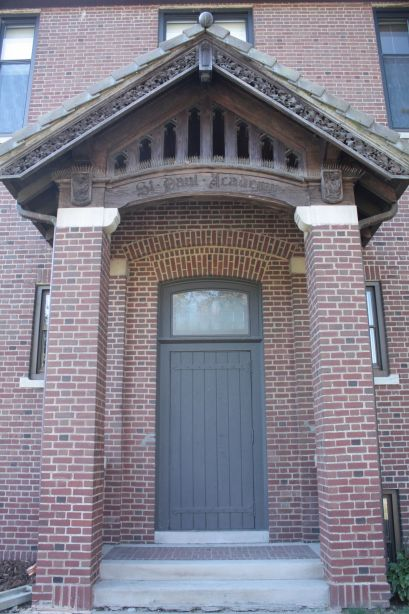 When St. Paul Academy opened this was the main entrance.
