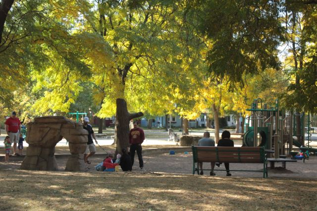While the school bearing its name is long gone, Mattocks Park remains a very popular with young children and their parents.