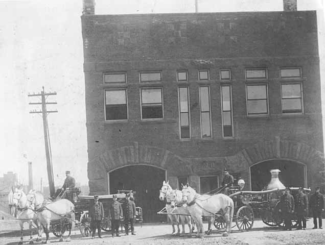 Fire station 11 circa 1900. Courtesy Minnesota Historical Society