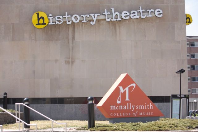 The History Theater shares this building with McNally Smith College.