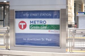 The 10th Street Station sign.