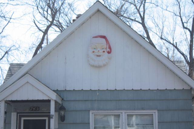The Christmas spirit runs into the last of April at 745 DeSoto Street.