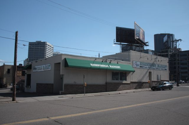 It doesn't look like it but Eisenberg's Market, a Downtown mainstay for about 75 years, shut its doors in fall of 2012. The Eisenberg's building is located at 10th and Jackson.