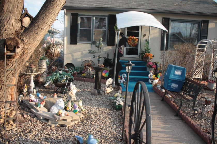 The front yard of Darlene and Edwin Hammond's home at 914 Bayard Avenue.