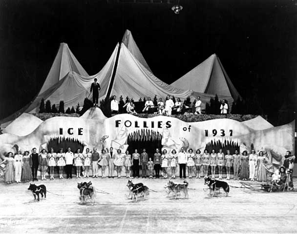 The stage for the 1937 Shipstads and Johnson Ice Follies. Courtesy Minnesota Historical Society.