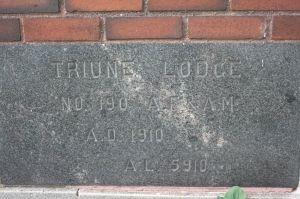 Truine Lodge cornerstone.