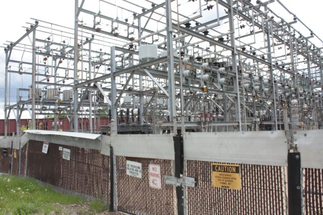 The Xcel Energy, formerly known as NSP, power substation at Asbury Street and Iglehart.