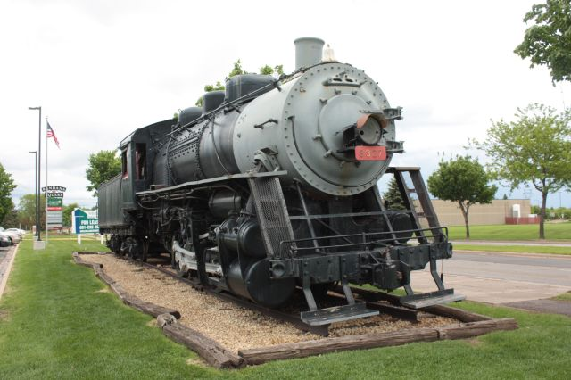 Grand Trunk Western steam engine #8327, built by the Lima Locomotive Works of Lima, Ohio in 1927, according to the Northstar Chapter of the National Railway Historical Society, http://www.northstar-nrhs.org/