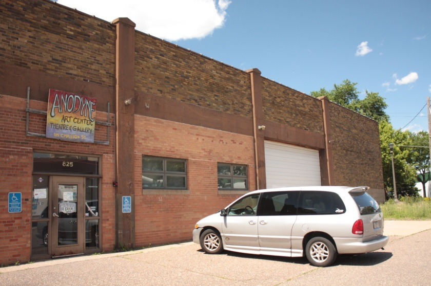 Anodyne Art Center, Theater and Gallery at 825 Carleton Street.