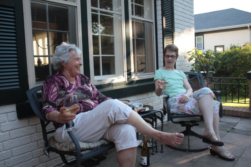 Jennifer and her friend Chris enjoyed a Home Happy Hour.