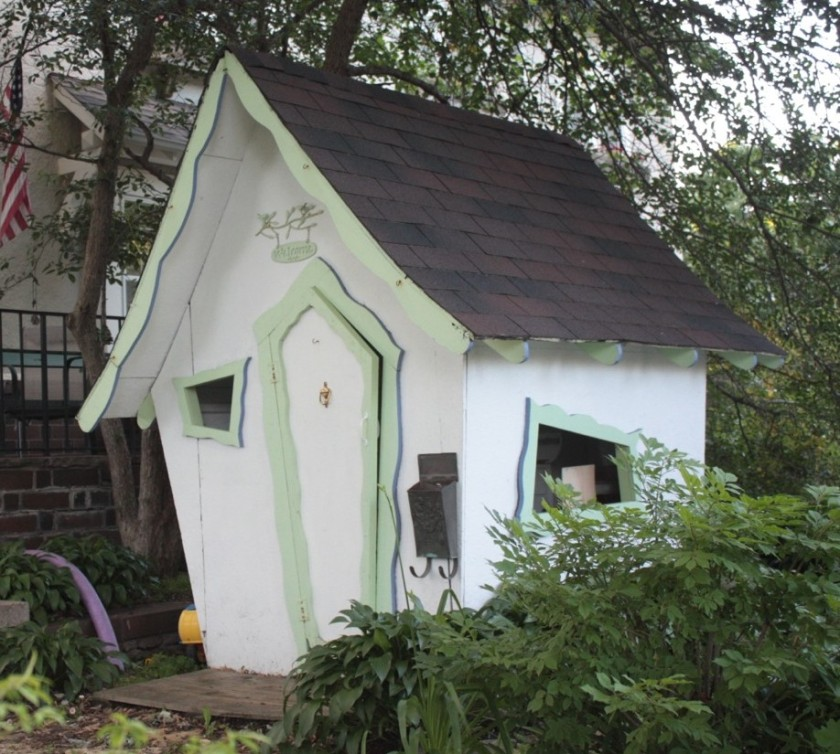 The Suessian playhouse in the back yard of 125 Fairmount.