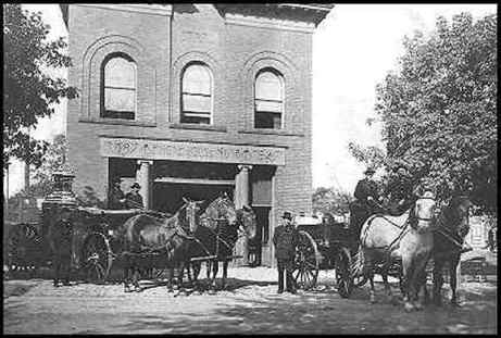 Station 13 during the days it housed horse-drawn fire rigs. Courtesy MN Extra Alarm Assoc.