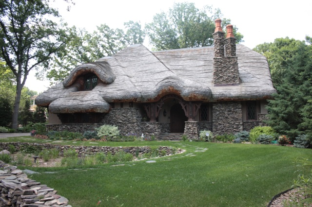 The roof is melting. The unusual roof and design of 7 Edgcumbe Place conjure up thoughts of Hansel and Gretel.