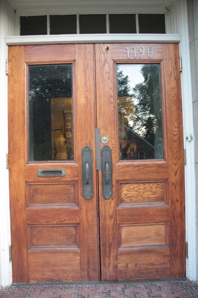 The front doors of Laura Hlavac's home.