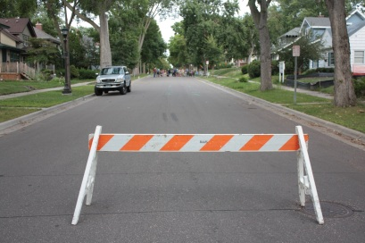 An official City of Saint Paul barricade!