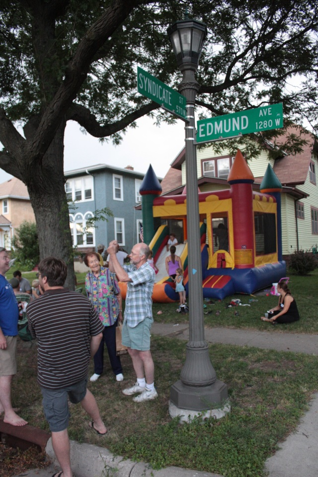 A grand assortment of neighbors came out for the first National Night Out block party around Edmund and Syndicate in Frogtown.
