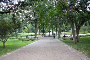 Irvine Park as seen from the south portion of the park.