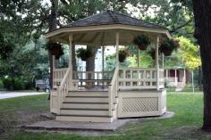 The Irvine Park gazebo.