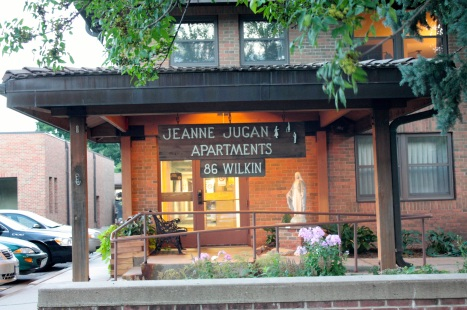 The Jeanine Jugan Apartments, a part of The Little Sisters of the Poor facilities, houses low income senior citizens.