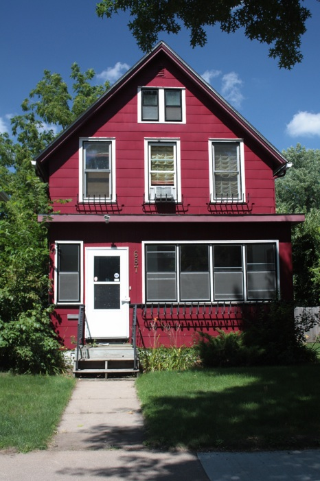 This very red house, constructed in 1895, at 687 Marshall.