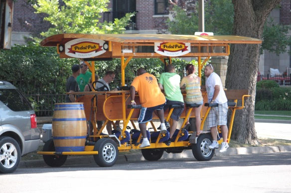 The end of the line for this Pedal Pub run. I wonder how these folks got home?