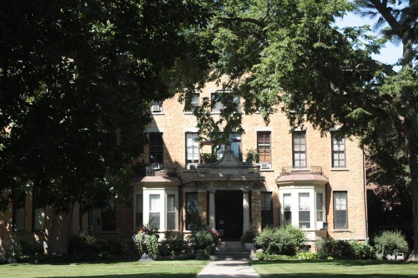 The original building of the former St. Joseph's Academy, now Christ's Household of Faith.