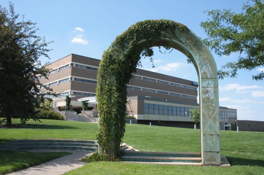 Saint Paul College looking northwest from the corner of Marshall and John Ireland.