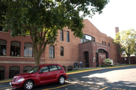 The main entrance to the Monsignor Ambrose Hayden Center at 328 Kellogg Avenue. The Hayden Center houses some Archdiocesan programs, including Catholic Senior Services and the Center for Mission. CommonBond Communities, the Midwest's largest nonprofit provider of affordable housing with services, has its main office here.