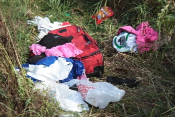 Clothing left on Selby Hill.