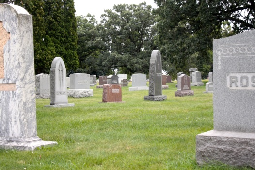 Even the traditional headstones feature different shapes, materials and sizes.