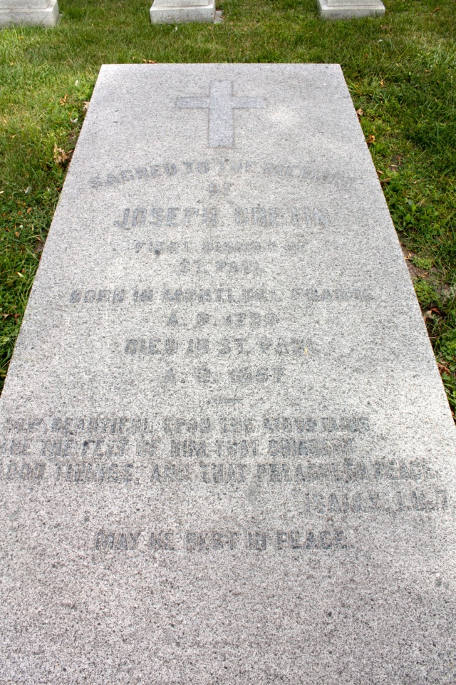 The grave markers of Joseph Cretin, Saint Paul's first Bishop...