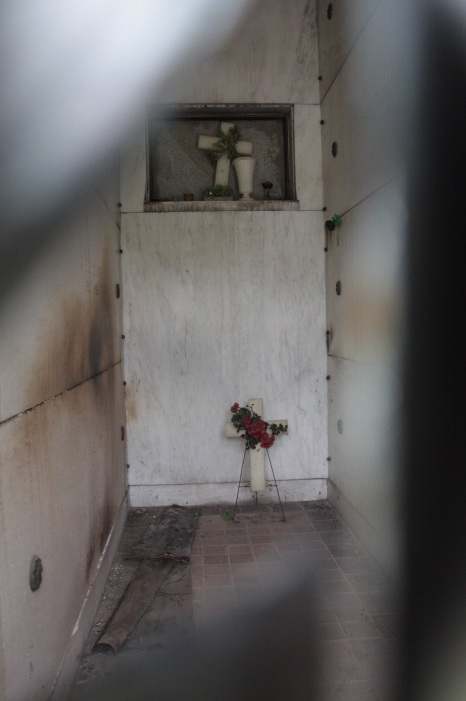The interior of the O'Connor family mausoleum.