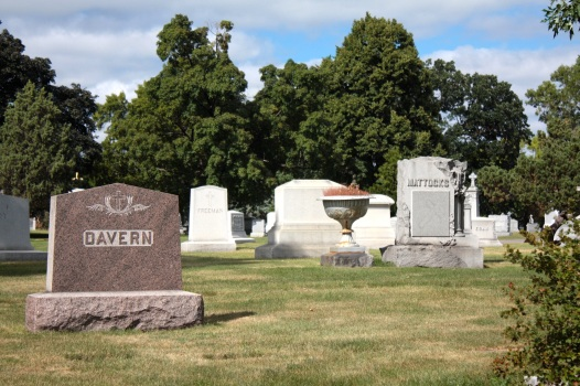 Stones mark the graves of two prominent early families in Saint Paul, the Daverns and the Mattocks.